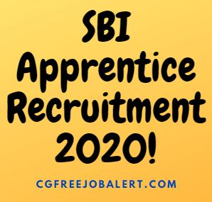 state bank of india apprentice recruitment 2020
