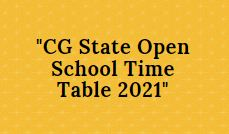 cg state open school admit card 2021